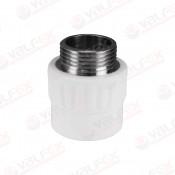 Муфта PP-R комбинированн белый Ду 40х1'' НР VALFEX (30/6)