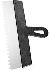 Шпатель зубчатый 100мм зуб 4х4мм СИБРТЕХ нержавеющая сталь, пластмассовая рукоятка