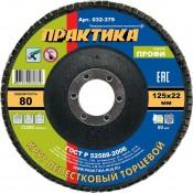 Круг лепестковый торцевой ПРАКТИКА 125х22мм №80 (10)