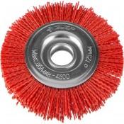 Щетка-крацовка дисковая нейлоновая проволока ЗУБР''ЭКСПЕРТ'' 125мм с абразивным покрытием